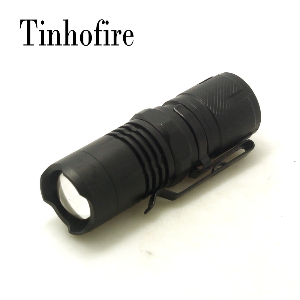 Tinhofire 69 2000 Lumens CREE XM-L L2 MINI Zoomable 2 Mode LED Flashlight 16340 Battery Adjustable Torch Magnet Tail tinhofire 6870 cree xm l 2 2000 lumens l2 led flashlight torch light lamp micro usb input 5v charger with battery