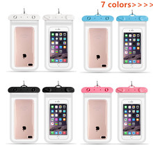Phone-Bag Waterproof Cases Swimming-Pouch Rafting Diving Cover Sealed Than 11--22cm