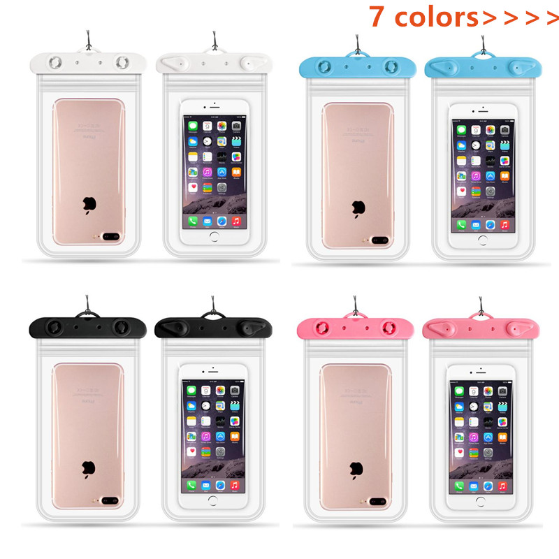 Swim Waterproof Phone Bag Diving Rafting Sealed Mobile Bag Swimming Pouch Cases Cover Phone less than 6.2 inches 11*22cm