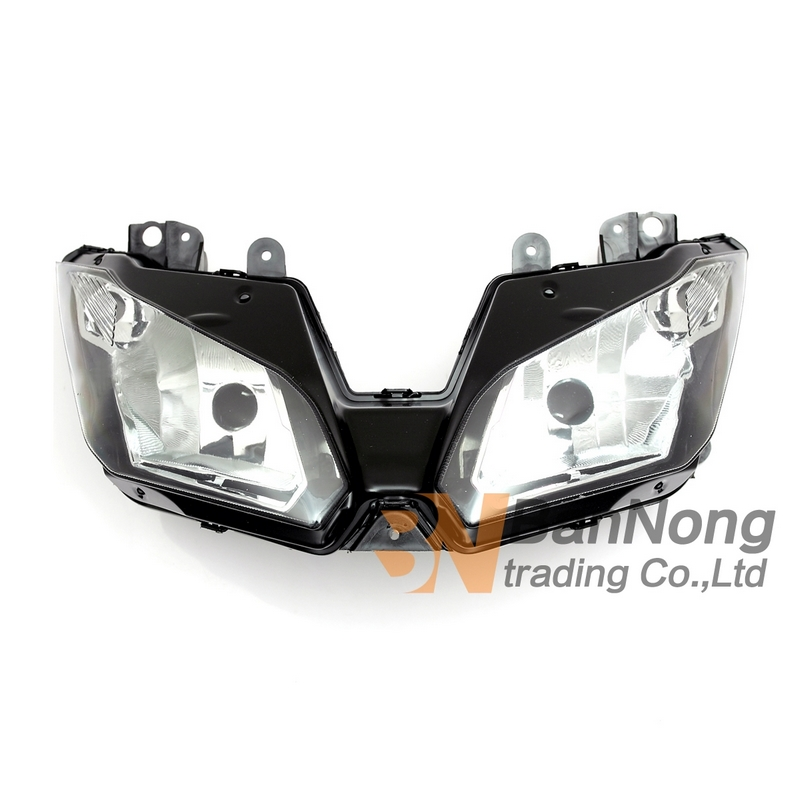 Free Shipping Motorcycle Front headlight headlamps assembly For KAWASAKI ZX300R EX300R NINJA 300 13-15 VERSYS 650 1000 15-16 2013 headlamps for chery qq front headlamps assembly before the lamp lights with bulb