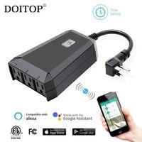 DOITOP Smart Home WiFi Remote Timer Switch Smart Socket Compatible For Alexa Echo Google Home Google