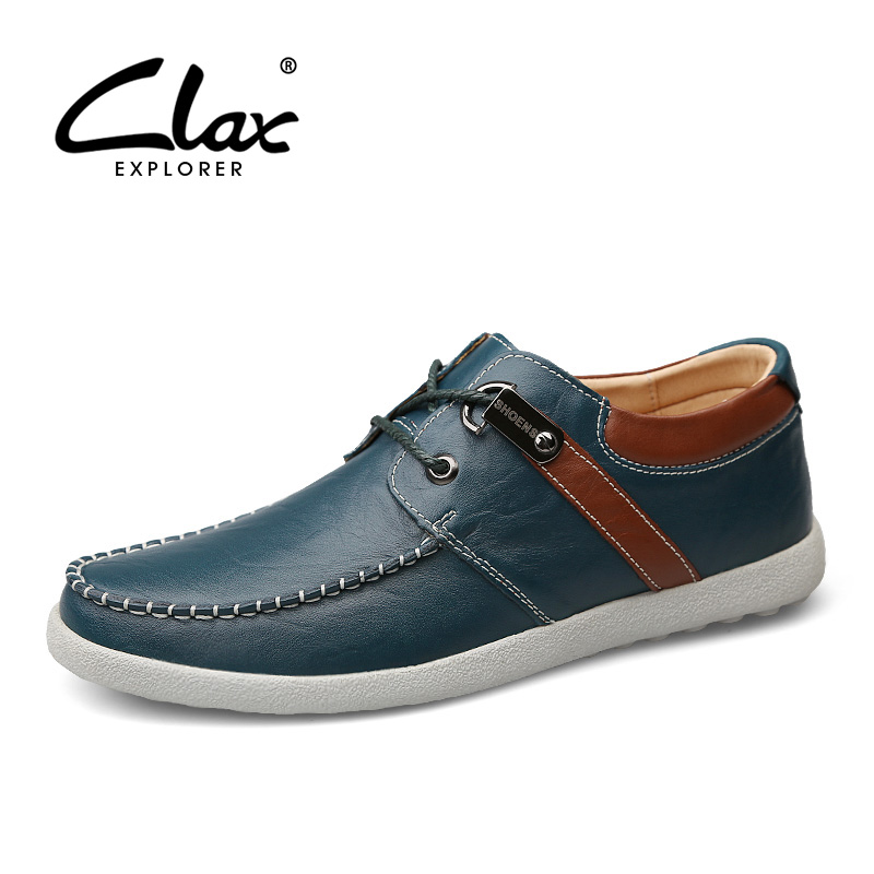 CLAX Mens Autumn Shoe 2017 Fashion Leather Shoes Leisure Footwear Male Casual British Derby Shoes Designer Handmade Walking Shoe 2017 new autumn winter british retro men shoes zipper leather breathable sneaker fashion boots men casual shoes handmade