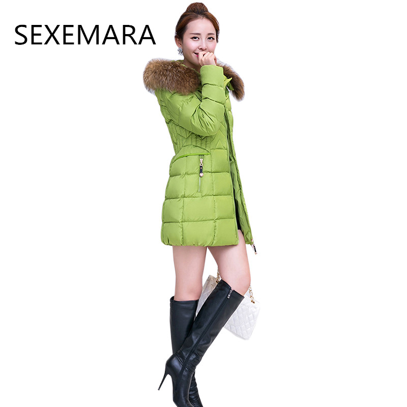 Women's winter cotton jacket 2017 Long section hooded outerwear fashion fur collar casacos thick warm Parkers Overcoat female367 new fashion 2017 winter jacket women korean loose large fur collar hooded overcoat female parkers medium long warm cotton coats