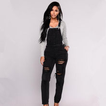 2019 spring new casual Sports your shoulders braces jumpsuit denim overalls  women Rompers fashion jeans Bib pants f63bc6887fbe