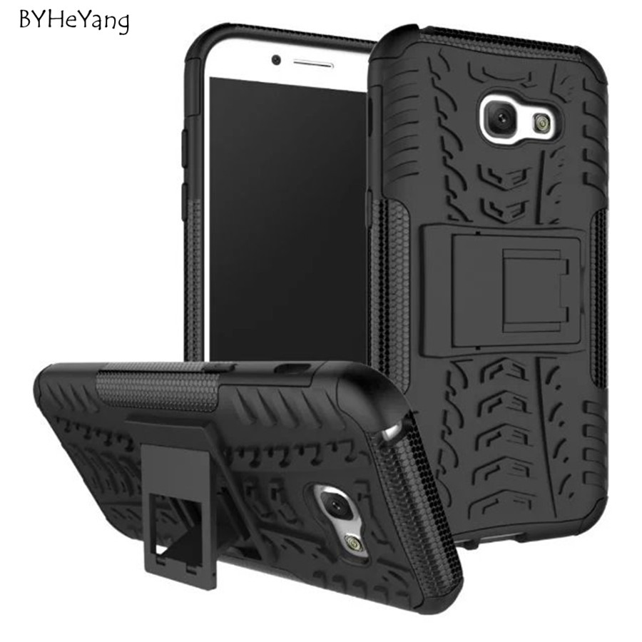 Para Samsung Galaxy A5 2017 Case Heavy Duty Armor Dura Delgada Goma dura Cubiert