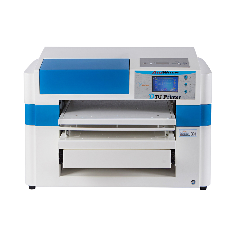 CE високоскоростен директен текстилен принтер за печат на плат с 4 бяло мастило