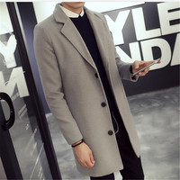 Men Knit Coat Especially Long Mens Trench Hood Leather Cape For Fashion Jackets Jacket S Cotton men Autumn Parka Costume