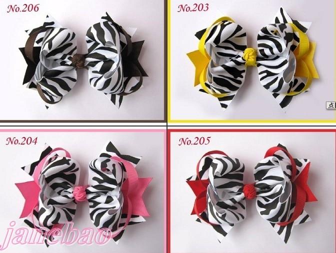 """Новейший 500 шт 5,"""" большое кольцо женский бант для волос аксессуары для волос популярные заколки для волос Зебра Девушка"""