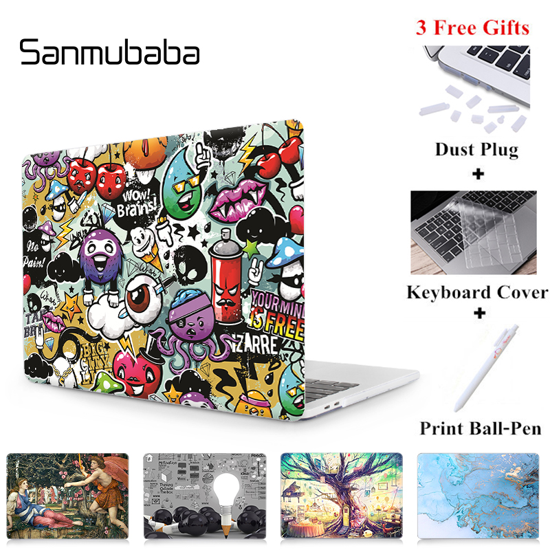 Sanmubaba Case For Macbook Air Pro Retina 11 12 13 15 Inch With Touch Bar Hard Cover Custom Design Laptop Case Sleeve 2019 A2159