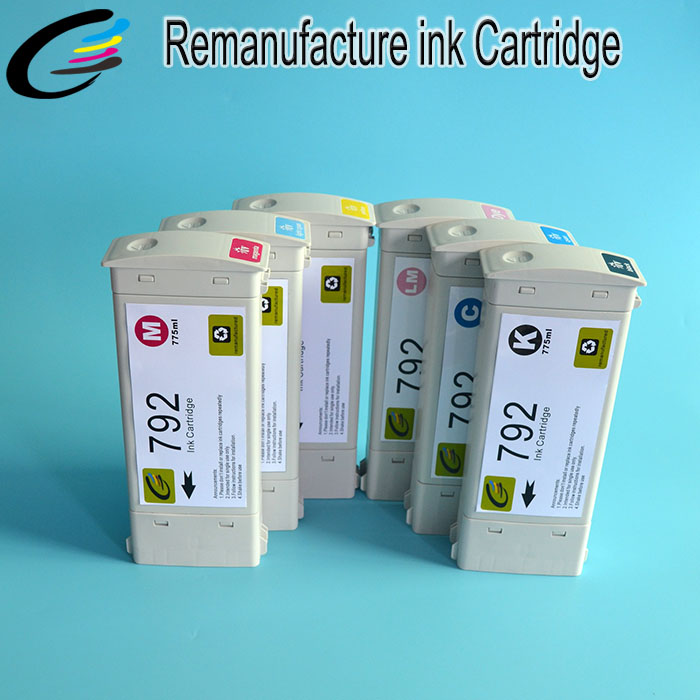 New Technology Reborn ink Cartridge for HP 792 Compatible Cartridges for HP Latex L28500 with Latex Ink hp27 black cartridge for hp c8727a reman cartridges print heads free shipping full ink