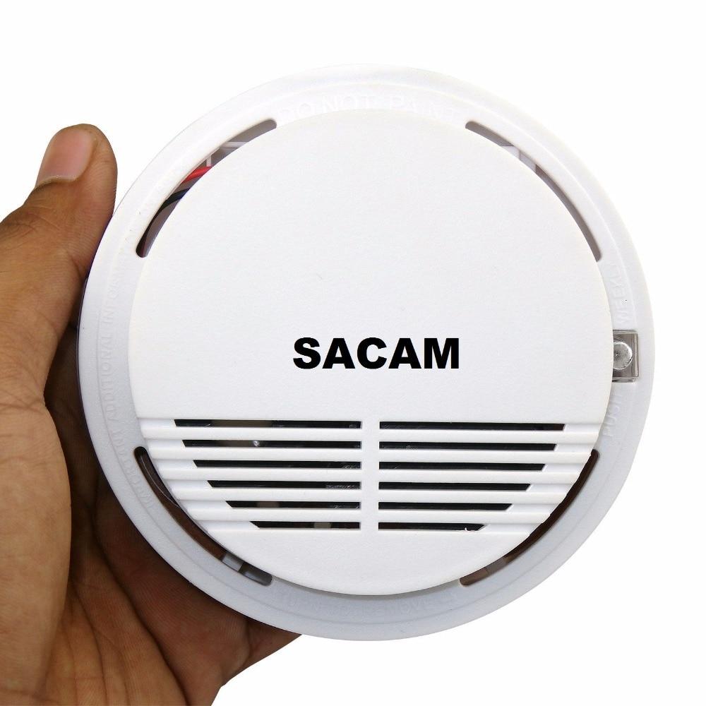 Smoke Detector Fire Alarm Sensor Alarm Systems Security Home Wireless Works With Sacam WiFi IP Cameras SASDIGI72M2WL For Kitchen
