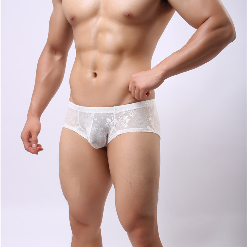 Men 39 s Lace Underwear Sexy Gay Men Boxers Lingerie Cheap Shorts Boxers Transparent Gay Sexy Underpants Boxers in Boxers from Underwear amp Sleepwears