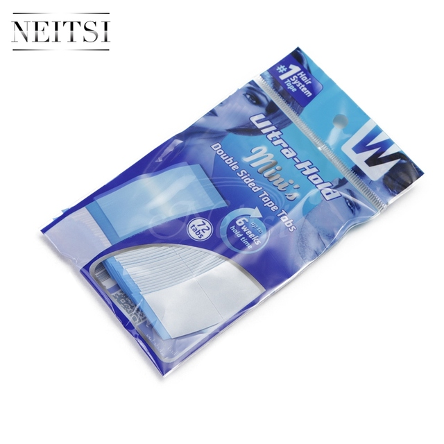 Neitsi 36*2 Tabs/lot Strong Blue Minis Ultra Hold Double Sided Tape Tabs For Toupees/Lace Wigs/Tape Extension Wig Adhesive Tape