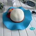 Envío gratis 1 unids el nuevo sur de corea versión de loto sol mujer sombrero de verano sombrero de paja