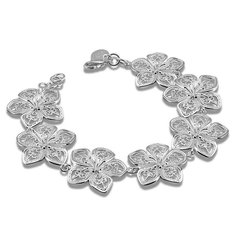 ჱfashion Women 925 Sterling Silver Bracelet Beautiful Bracelet