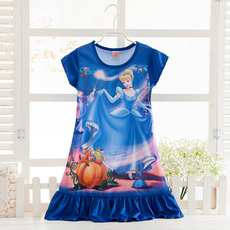 WNQY Toddler Night Gown Little Girls Princess Elsa Pajamas Dress