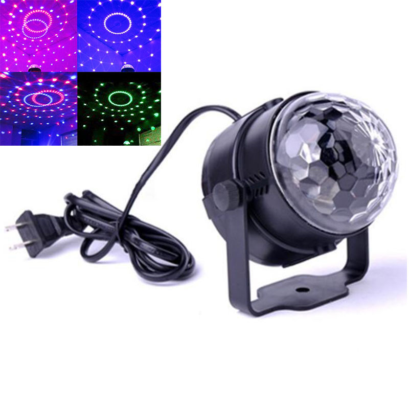 Mini 3W LED Bulbs DJ Stage Light RGB colorful Lamp Adjustable Auto Rotating indoor Party Disco Music Bar KTV magic ball lights festival e27 3w 110v 220v led stage light christmas colorful auto rotating rgb bulb party effect lamp disco magic ball eu plug