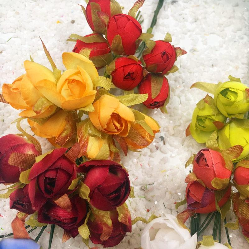 6 STKS / kunstzijde boeketten van rozen kleine knoppen bruiloft - Feestversiering en feestartikelen - Foto 3