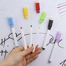 Стираемые маркеров, магнитно-маркерная белая ластик встроенный пера магнит сухой доска школьные