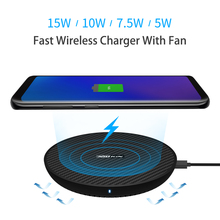 15 W Fast Wireless Charger, nillkin Qi Fast Wireless Charging Pad เส้นใยสำหรับ iPhone XS Max/XS/8/8 Plus สำหรับ Samsung s9/หมายเหตุ 8/S8/S8 +