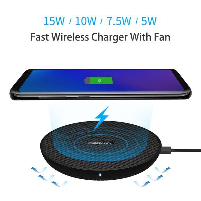 15 ワット高速ワイヤレス充電器、 nillkin チー高速ワイヤレス充電パッド繊維 iphone XS 最大/XS/8/8 プラスサムスン s9/注 8/S8/S8 +