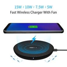 15 w 빠른 무선 충전기, 삼성 s9/note 8/s8/s8 + 용 iphone xs max/xs/8/8 plus 용 nillkin qi 고속 무선 충전 패드 섬유