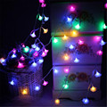 5M 28 LED Romantic Rose String Lights New Year Valentine's Day Xmas Wedding Party Led Fairy Lights Rose Flower String Lights