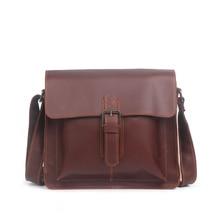 Mens leather shoulder bag Womens small square Fashion simple Messenger Handmade iPad