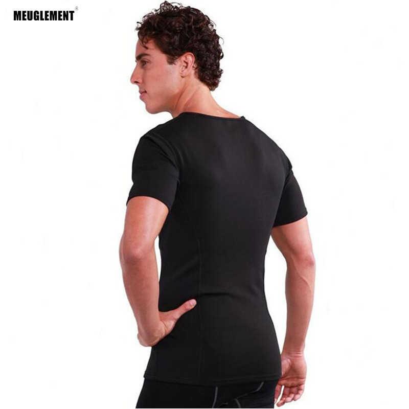 2c46dd5478694 ... Hot Shapers Men Compression Slimming Shirt short neoprene waist trainer  vest slimming corset body shaper super ...