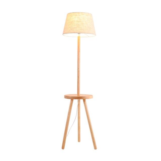 Moderno semplice Lampada Da Terra in legno nordico con tavolo ...
