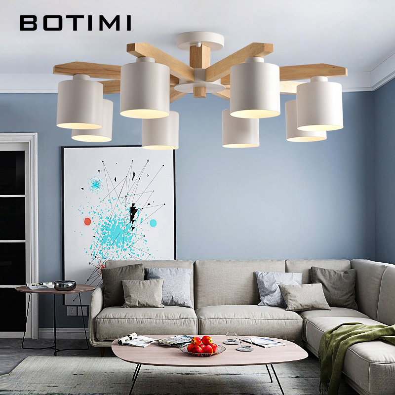 Wood Chandeliers For Dining Room: Aliexpress.com : Buy BOTIMI LED Chandelier For Living Room