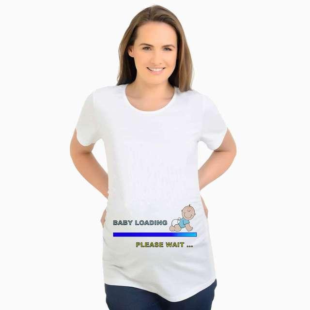 7298e5d9 New Design Cute Maternity T-Shirt Funny Pregnancy Tee Baby loading  maternity tshirt pregnant women funny tops