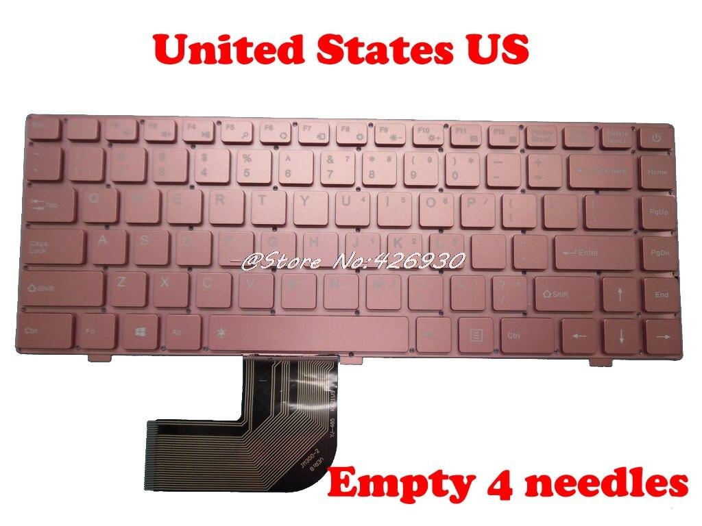 Klawiatura do laptopa Teclast F7 Russian RU English US czarny srebrny różowy bez ramki