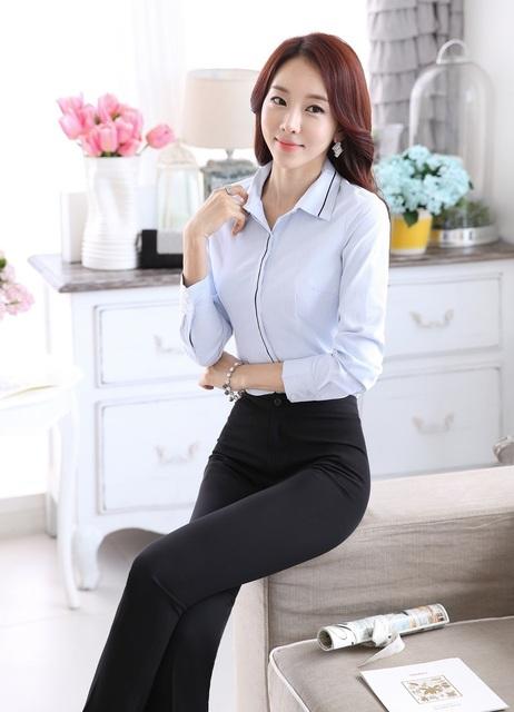 Plus Size de estilos 2015 primavera outono mulheres trabalho ternos e calças profissional calças conjunto feminino