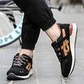 2017 Nueva Hombres Otoño Masculinos Zapatos Entrenadores Sport Moda Casual Top Lace Up Pisos Caminando Mantrainers Basket Zapatillas Hombre