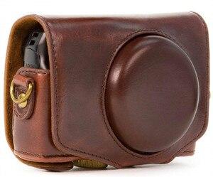 Image 3 - ريترو بو الجلود حقيبة كاميرا غطاء واقٍ مزخرف لهاتف آيفون غطاء مع حزام لكانون باور شوت SX740 HS SX730 HS SX720 HS كاميرا رقمية