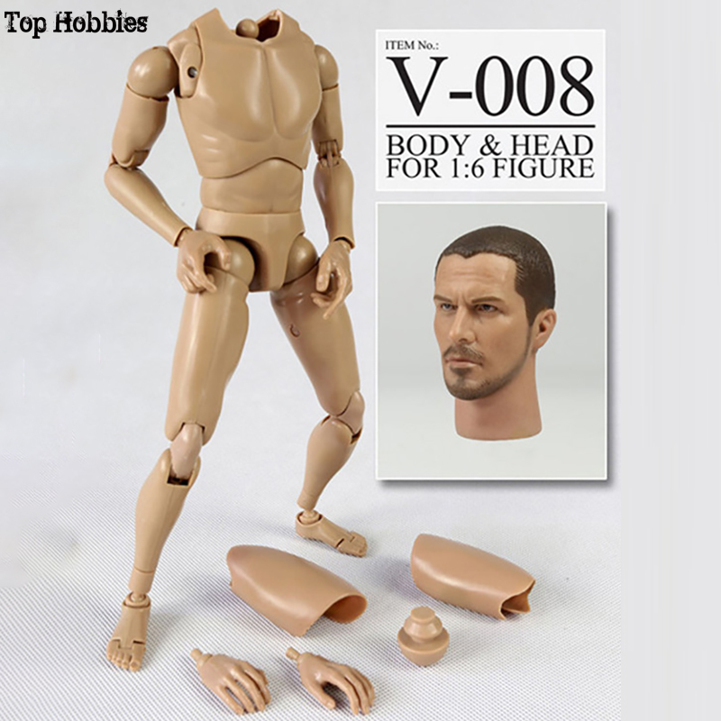 Hot toys 1/6 Body Action 1:6 Scale Body Male Veryhot V-008 Silm Shoulder V1-N Conner Head Sculpt Set For 12 Inch Nude Figure muñeco buffon