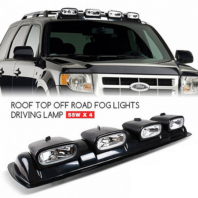 38 Car Roof Light Bar 4 Spot Lamps 55W Daytime Running Lights 4x4 Truck SUV RZR Trailer Roof Off road Driving Light
