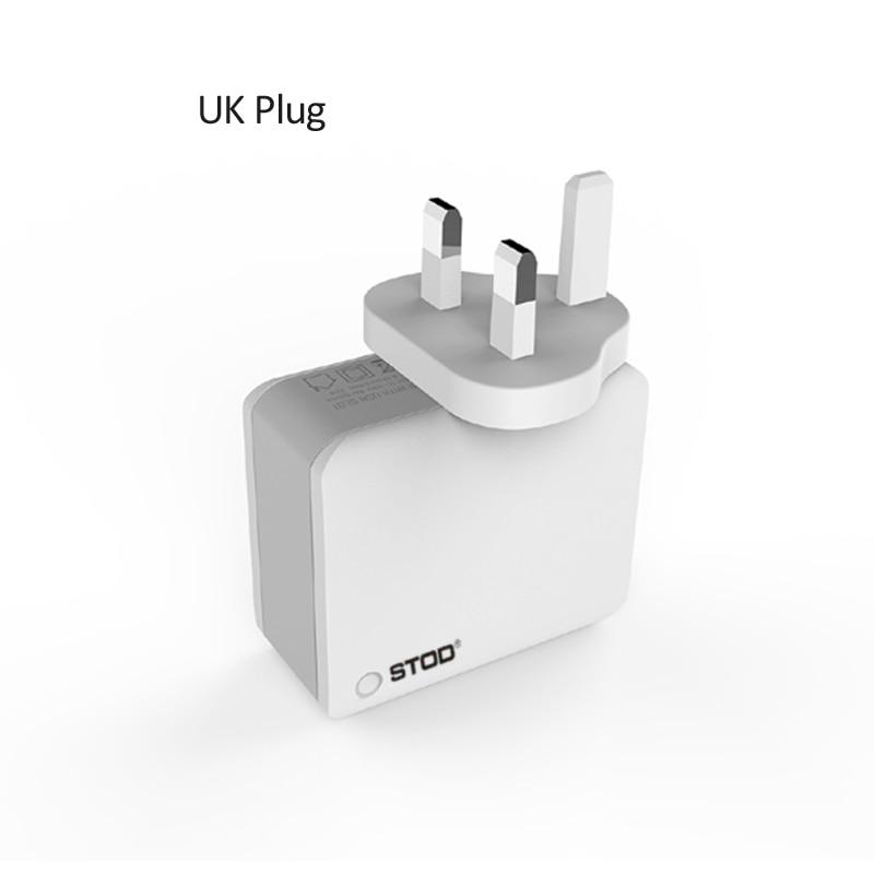 STOD Multi Port Travel Charger 4 USB 22W 4.4A Pengisian Cepat Untuk - Aksesori dan suku cadang ponsel - Foto 4