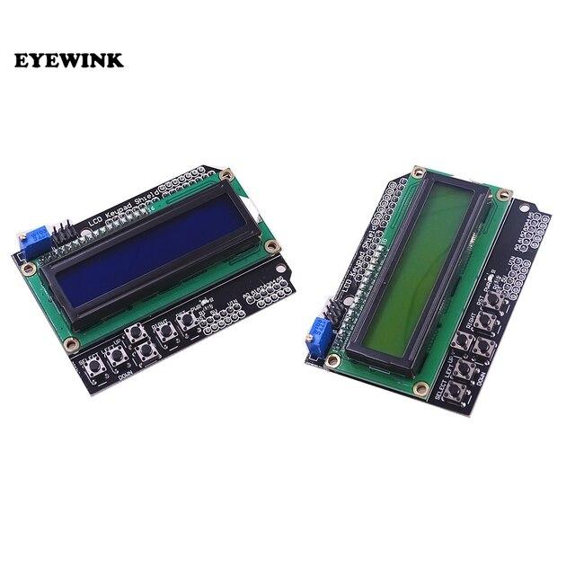 10 قطعة LCD لوحة المفاتيح درع LCD1602 LCD 1602 وحدة عرض شاشة زرقاء شاشة خضراء ATMEGA2560