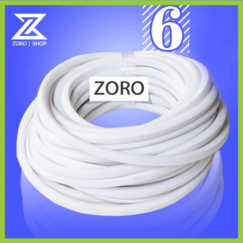 (1bag) 6mm Square Blank Cable Marker Handwritting PVC Pipe