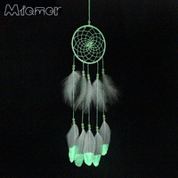 MIAMOR Indian Fluorescence Dreamcatcher Noctilucous Wind Chimes & Home Wall Hanging Pendant Ornament Dream Catcher Gift Amor079