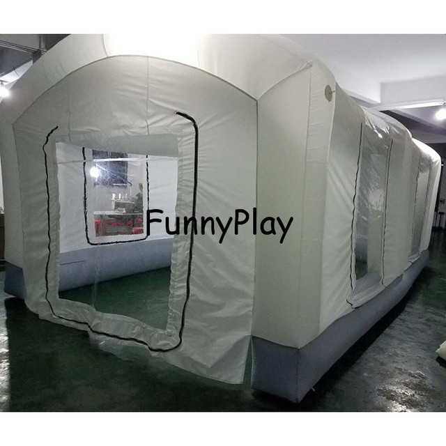 Portable Paint Booth >> Us 300 0 Portable Paint Booths Used Spray Booth For Sale Puzzle Inflatable Spray Booth For Car Painting Outdoor Inflatable Spray Tent In Tents From