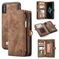 Für iPhone 11 Brieftasche Fall Abnehmbare Leder Flip-Cover Magnetische Fall für iPhone 13 Pro Max 12 Mini XS max XR 8 7 Plus