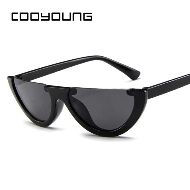 ce62dd2330f COOYOUNG Small Cat Eye Frame Sunglasses Women UV400 White Vintage Female  Sun glasses Red Frame Protection UV400