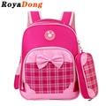 RoyaDong Children School Bags For Girls Boys Kids Fashion Bag Plaid Backpack Baby Bow Star Cute Mochila Escolar Sac A Dos Enfant