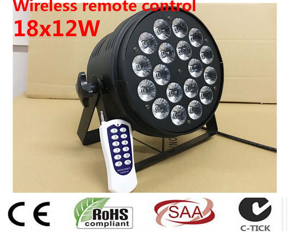 Wireless remote control 18x12W Led Par Light RGBW 4in1 DMX Professional Lighting Indoor Stage Lights DJ Equipment dmx dj light