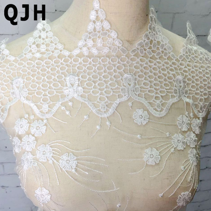 5yards lot fireworks pattern water soluble embroidery lace for Lace wedding dress patterns to sew