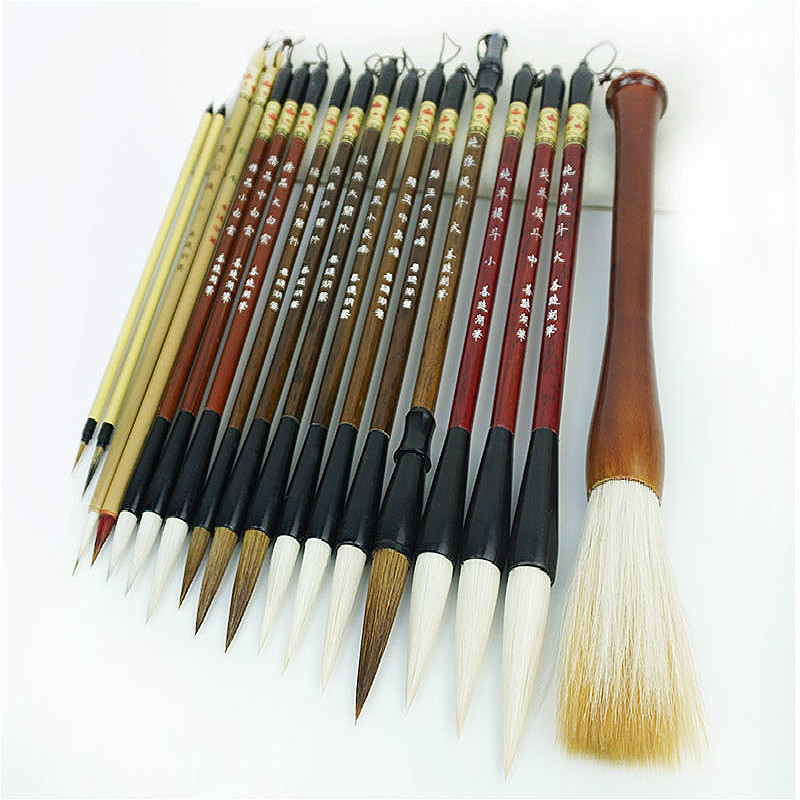 Chinese Painting Writing Brush Set Professional Meticulous Painting Freehand Flower and Bird Painting Watercolor Calligraphy PenChinese Painting Writing Brush Set Professional Meticulous Painting Freehand Flower and Bird Painting Watercolor Calligraphy Pen