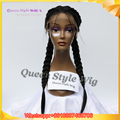 New Arrival Double Dutch Braids Wig Twin Braided Lace Front Wigs Synthetic Black Hair Braids Lace Front Wigs for Black Women